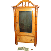 Cyber Monday Large Faux Bambou Armoire/Original Label for Your French Doll!