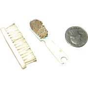 Two Little Bone Brushes from France for Your Antique Dolls!
