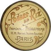 MINIATURE French Face Powder Box for Your Antique Doll!