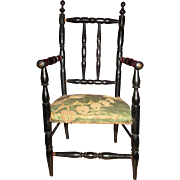 Magnificent Napoleon III French Doll Chair!