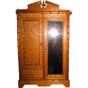 Rare!  LARGEST Size Faux Bamboo Doll Armoire!