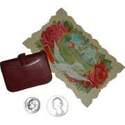 AUTHENTIC French Doll Calling Card Purse - Never Played With!
