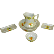 Iridescent French 5-Piece Toilette Set for Your Antique Doll!