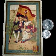 Our Friends in Spain! 127-Year-Old Paris Eiffel Tower World's Fair Trade Card!