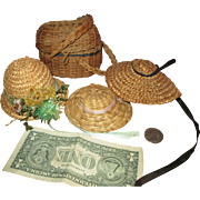 Little French Hats & Baskets for Your French Doll!