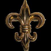 French Fleur de Lis Watch/Pendant Brooch!