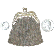 Silver Chain Maille Purse for Your Antique Doll!