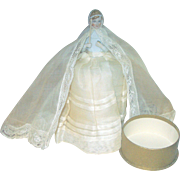 French PORCELAIN First Communion Candy Container Doll!