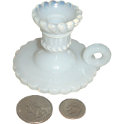 Miniature French OPALINE Candle Stick for Your Doll!