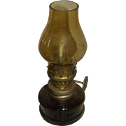 Amber Glass Hurricane Toy Lamp for Your Doll!