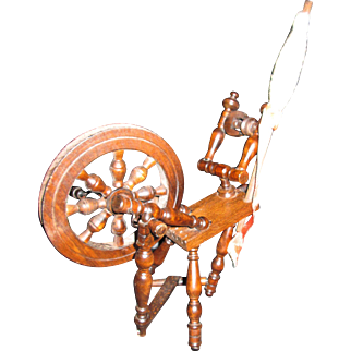 Brittany Spinning Wheel and Chair for Your French Doll!