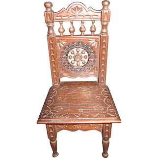 Brittany Miniature Antique Chair for Your French Doll!