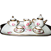 All-Bisque Doll/Mignonnette Limoges Tea Set from France!