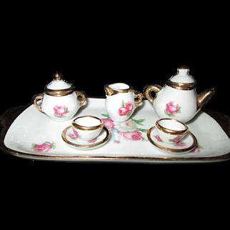 All-Bisque Doll/Mignonnette Limoges Tea Set from France!
