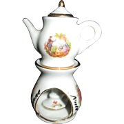 TINY Limoges Veilleuse for All-Bisque Doll or Mignonnette!