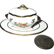 Adorable FRENCH Soup Tureen for Your Antique Dollhouse or All-Bisque Doll!