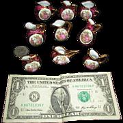 "Dealers Welcome!  Nine Miniature Limoges 3 1/8"" LIMOGES Pitchers!"