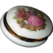 Tiny Limoges French Porcelain Jewel/Trinket Box for Your French Doll!