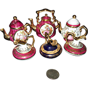 TINY Limoges French Tea Set Elements for Your Doll or Dollhouse!