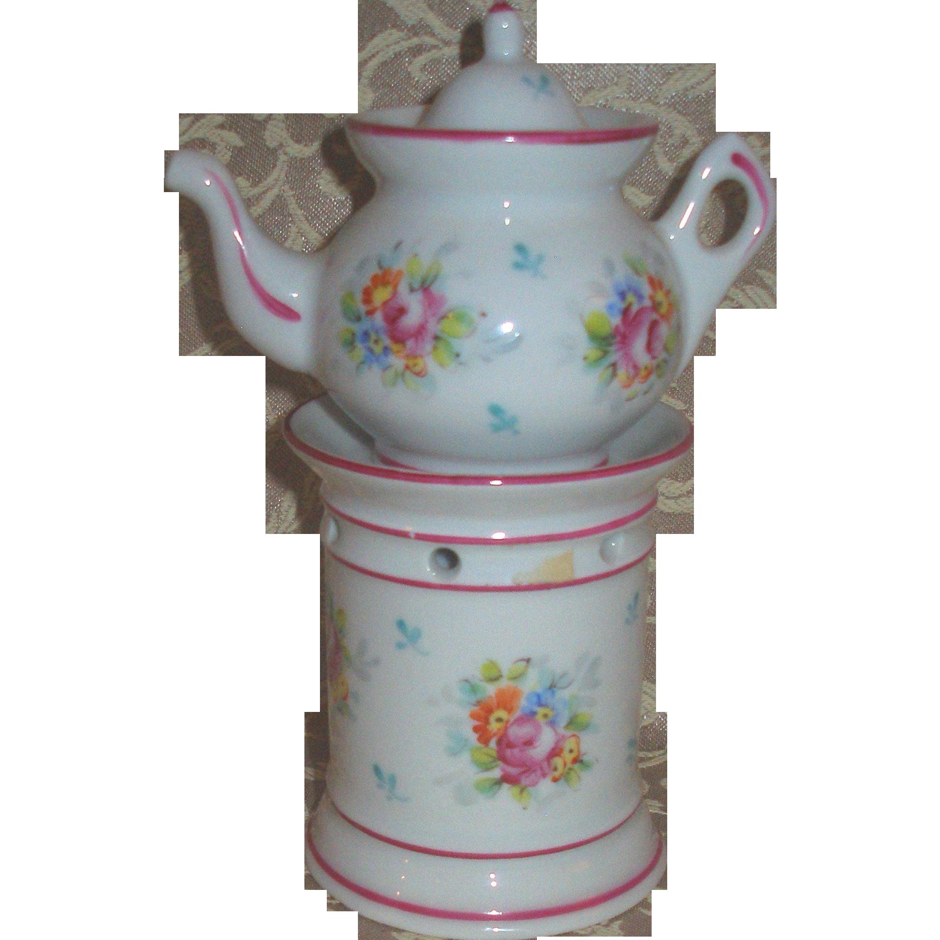 Porcelaine de Paris Rose Veilleuse for Your French Doll!
