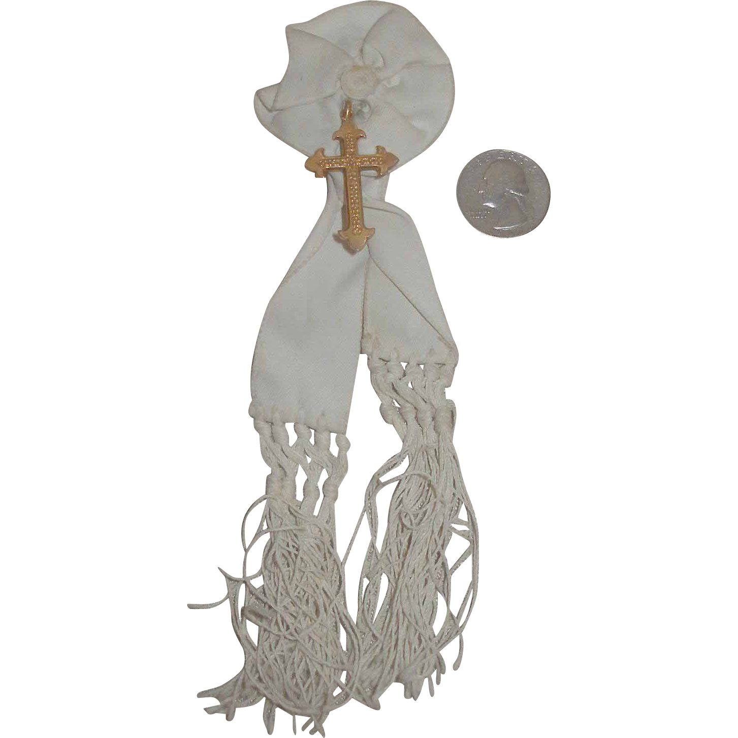 French First Communion Sash for Antique Doll!