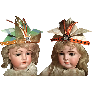 BeWitching Halloween Part Hats for Your Antique DOLL!