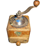 Miniature French Coffee Grinder for Your Antique Doll!
