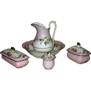 Porcelaine de Paris Large 8-Piece Toilette Set from FRANCE!