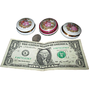 Three Tiny Limoges Trinket Boxes for Your Dolls' Treasures!