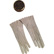 Pale Blue French Fashion Gloves & Powder Tin for Your French Doll!