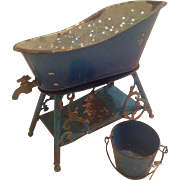 French 19th Century Toy Bathtub for Your Doll!