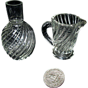 Miniature French Carafe and Pitcher for Your Doll!
