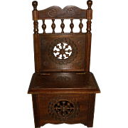 Brittany Chest/Potty Chair for Your Antique Doll!