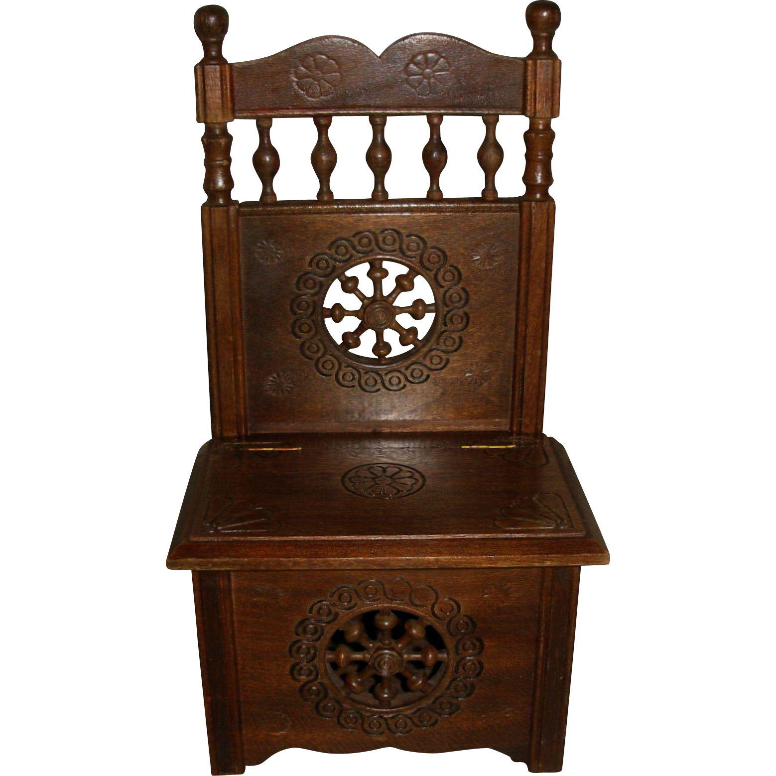 Vintage Toy Potty : Brittany chest potty chair for your antique doll from