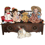 Extra LONG Brittany Bench/Chest for Your Antique Dolls!