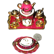 French VEILLEUSE/Coffee Service/Soup Tureen Miniatures for Your Doll!