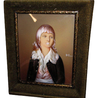 MYSTERY Miniature Portrait of Louis XVII, Boy King of France!