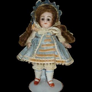 """Adorable 7"""" All-Bisque KESTNER Doll!"""