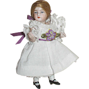 "ALL ORIGINAL French 4"" Mignonette Doll!"