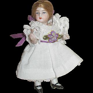 """ALL ORIGINAL French 4"""" Mignonette Doll!"""