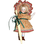 French Bone Needle Case Parasol for Your French Doll!