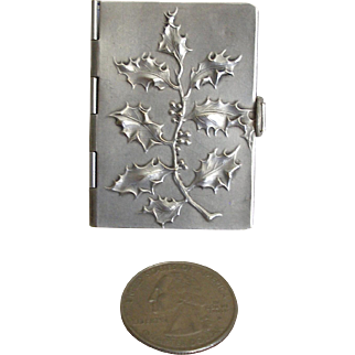 Tiny French Silver Plate Doll Size Aide Memoire