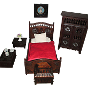 Magnificent COMPLETE Brittany Miniature Doll Bedroom Suite