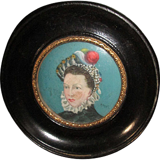 Miniature French Portrait for Your Doll Scene