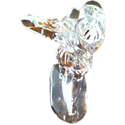 Signed Waterford Lady Golfer Modeled in Beautiful Crystal