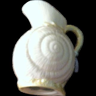 Belleek Cream Jug in the Shell Pattern