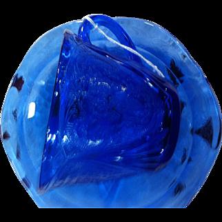Cobalt Blue  Royal Lace Cup and Saucer by Hazel Atlas