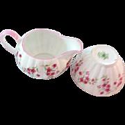 Tuscan Bone China Sugar/Creamer In a Dainty Floral Pattern
