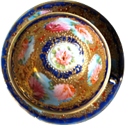 Beautiful Nippon Cup/Saucer with Elaborate Decoration