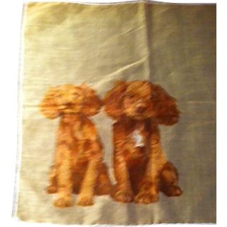 Handkerchief with 2 Dogs (Cocker Spaniels)